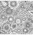 seamless floral pattern with hand drawn vector image vector image