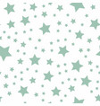 seamless green pastel stars pattern vector image