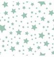seamless green pastel stars pattern vector image vector image