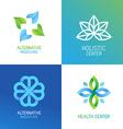set abstract logos and emblems vector image vector image
