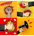 set human hands in pop art style like sign vector image vector image