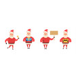 set of cartoon christmas isolated on vector image vector image