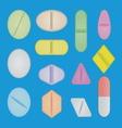 set pills vector image vector image