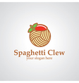spaghetti clew logo vector image vector image