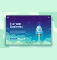 startup launch landing page rocket launch easy vector image vector image