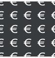 Straight black euro pattern vector image vector image