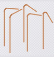 straw for beverage drinking straws of orange vector image vector image