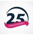 Template Logo 25 Anniversary vector image