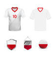 the flag poland is made in style the vector image vector image