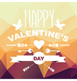 Valentines Day posterTypography vector image vector image