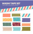 washi tape set japanese stripes stickers with vector image