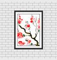 watercolor floral frame mockup vector image