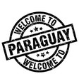 welcome to paraguay black stamp vector image vector image