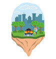 young backpacker tourist vector image