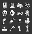 zombie icons set grey vector image vector image