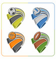 balls ribbons vector image