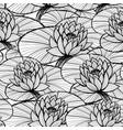 lotus ink hand drawn seamless pattern vector image