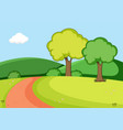 a nature park background vector image vector image