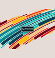 abstract colorful minimal stripe line vector image vector image