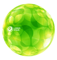 Abstract green globe vector image