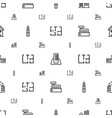 apartment icons pattern seamless white background vector image vector image