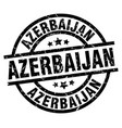 azerbaijan black round grunge stamp vector image vector image
