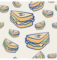 Background pattern of cheese sandwiches vector image