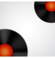 Background with vinyl records vector image vector image