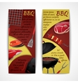 Bbq banners set vector image vector image