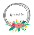 beautiful round frames with flower for decoration vector image vector image