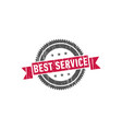 best service stamp sign seal vector image