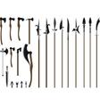 big weapon set vector image