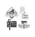 black and white logos for plumbing and repairing vector image vector image