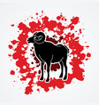 black sheep big horn ovis standing vector image vector image