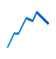 blue line graph icon isometric style vector image