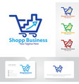 business up shop logo designs vector image vector image