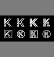 capital letter k modern set for monograms logos vector image