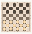 checkers game board vector image vector image