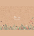 christmas plants decoration on brown background vector image