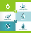 cleaning service icons signs logo vector image vector image