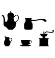 coffee miniset vector image vector image