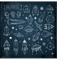 Collection of sketchy space objects vector image
