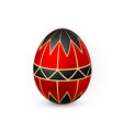 color easter egg on white background red and vector image vector image