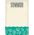 concept summer poster with sea shell coral vector image vector image
