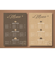 Design a menu for the cafe shops or caffeine in a vector image vector image