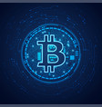 dotted bitcoin vector image vector image
