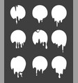 drops and strokes of black paint isolate vector image