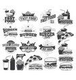 fast food label logos and design elements vector image vector image