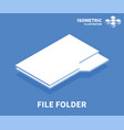 file folder icon isometric template vector image vector image