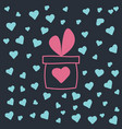 flat giftbox with heart vector image vector image